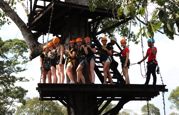 5-hour Angkor Wat Park Zip Line Adventure