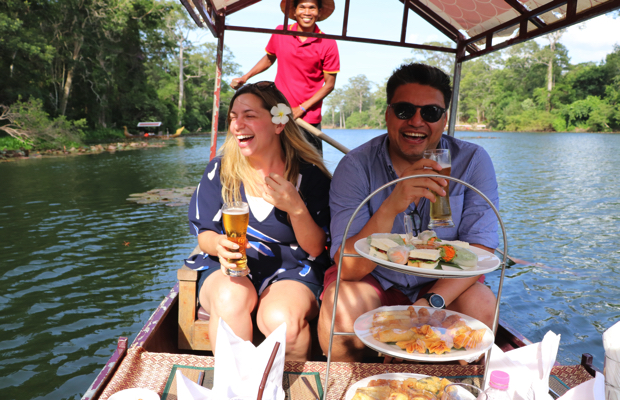 Half Day Angkor Wat Boating Sunset Tour